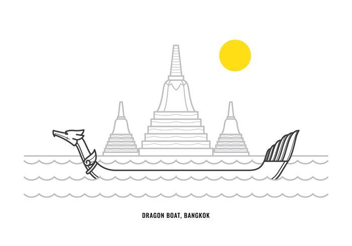 bateau-dragon vecteur
