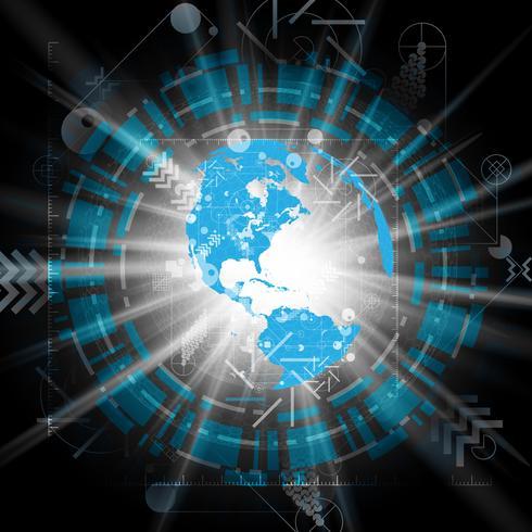 Illustration vectorielle de globe terrestre pour la publicité vecteur