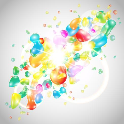Modèle coloré abstrait vecteur