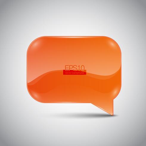 Bulle de dialogue abstraite vecteur