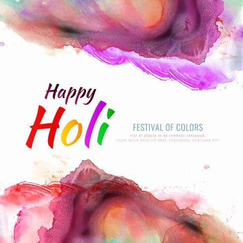 Abstract Happy Holi illustration de fond fête colorée festival vecteur