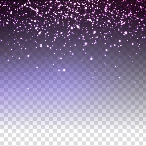 Abstrait coloré scintillant paillettes scintillantes sur fond transparent vecteur