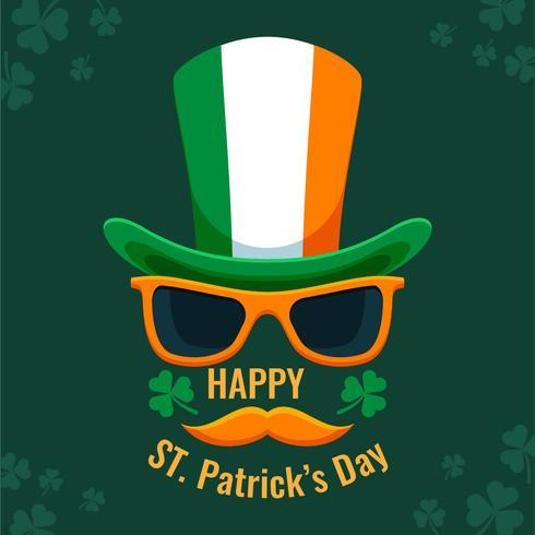 Jour de St Patrick mec cool vecteur