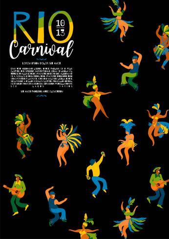 Carnaval du Brésil. Modèle de vecteur pour le concept de carnaval.