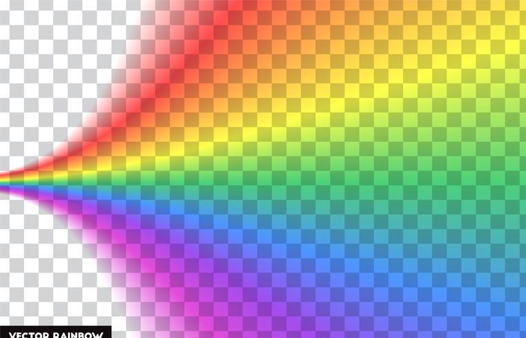 Arc-en-ciel transparent. Illustration vectorielle Arc-en-ciel réaliste sur fond transparent. vecteur