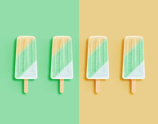 Glace réaliste et pastel, illustration vectorielle vecteur