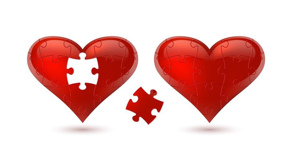 Coeur de puzzle. Illustration vectorielle vecteur