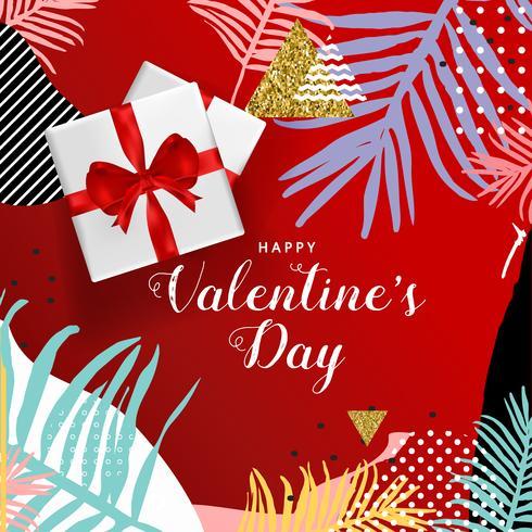 Affiche de typographie Happy Valentines Day, conception illustration vectorielle de carte de voeux romantique vecteur