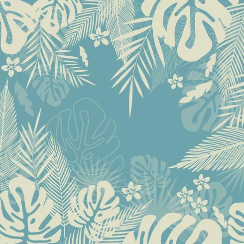 Jungle tropicale laisse sans soudure de fond. Conception d'affiche tropicale vecteur