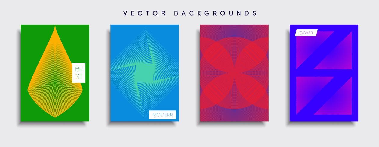 Dessins de couverture minimale de vecteur. Modèle de future affiche. vecteur