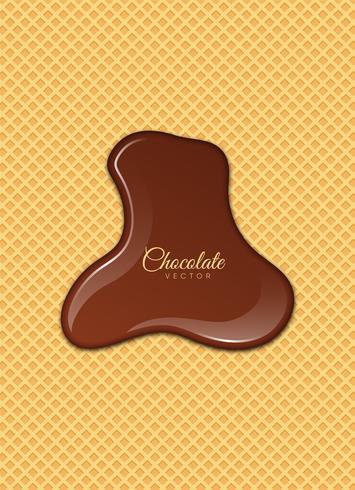 Chocolat liquide ou peinture brune. Illustration vectorielle vecteur