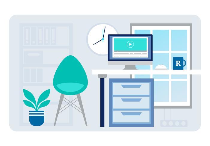 Vector Designer Room Illustration