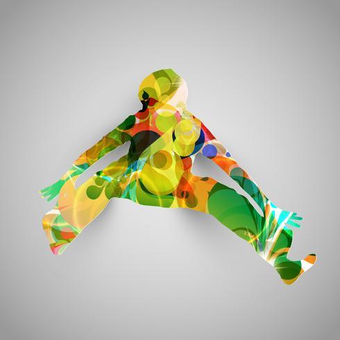 Illustration vectorielle de cavalier coloré vecteur