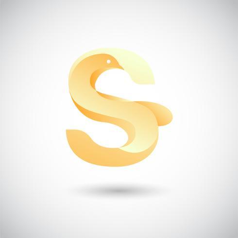 Lettre S Avec Dove Logo Concept vecteur