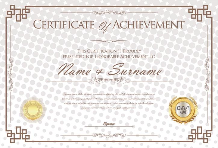 Certificat ou diplôme d'illustration vectorielle de modèle de design rétro vecteur