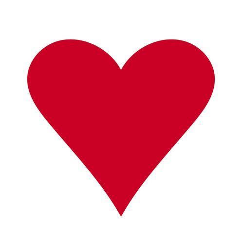Cœur, symbole de l'amour et de la Saint-Valentin. Icône plate rouge isolée sur fond blanc. Illustration vectorielle - vecteur
