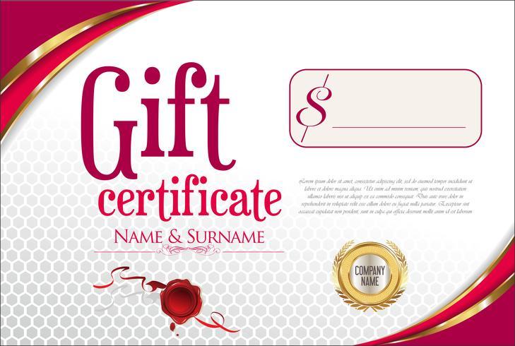 Cadeau certifié vecteur