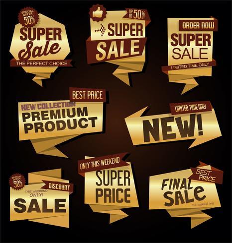 Collection de vecteurs Design Vintage Style Sale Tags vecteur