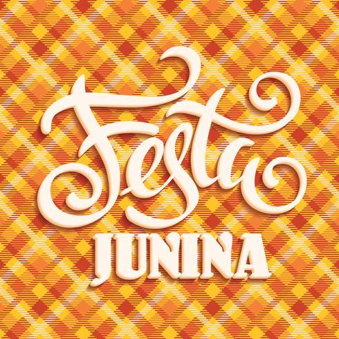 Fête latino-américaine, la fête du mois de juin au Brésil. vecteur