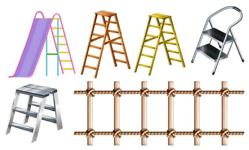 Différents types d'échelles vecteur