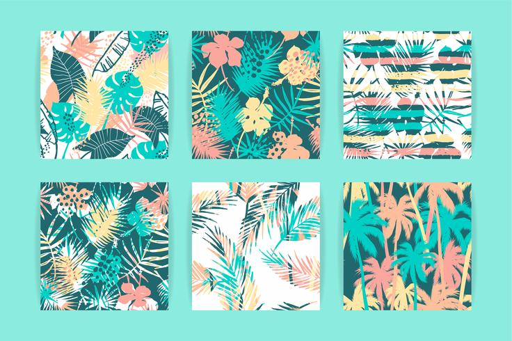 Modèle exotique sans couture avec des plantes tropicales. vecteur