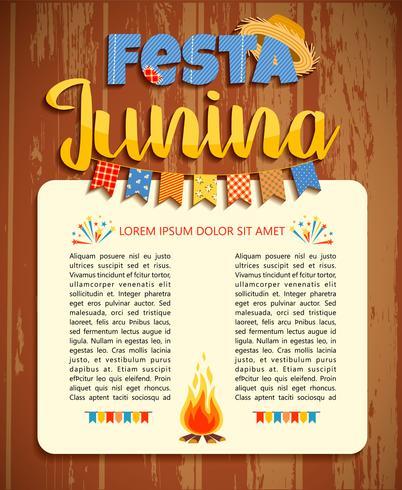 Fête latino-américaine, la fête du mois de juin au Brésil. Illustration vectorielle vecteur