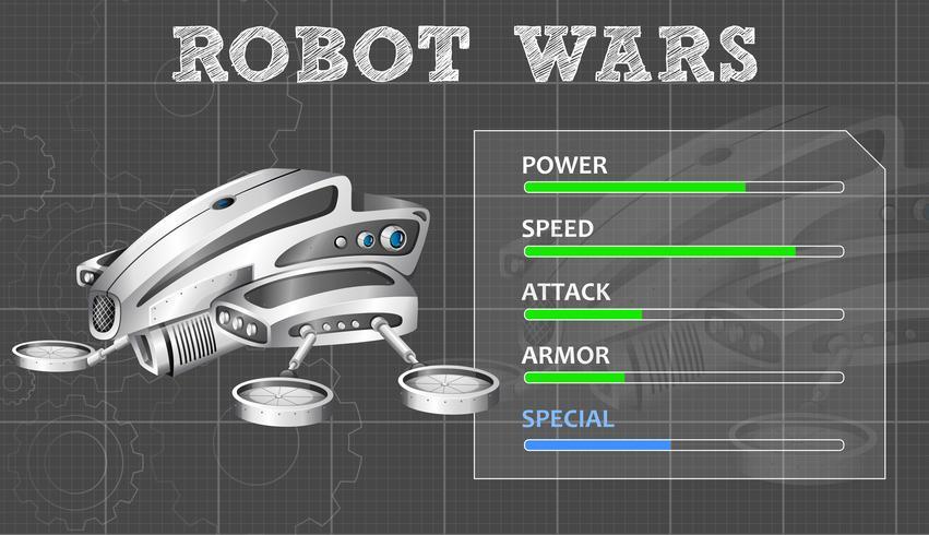 Conception technologique pour robot moderne vecteur