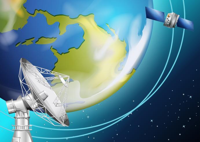 Un satellite vecteur