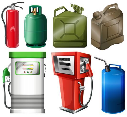 Différents réservoirs de carburant vecteur