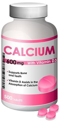 Un récipient de calcium vecteur