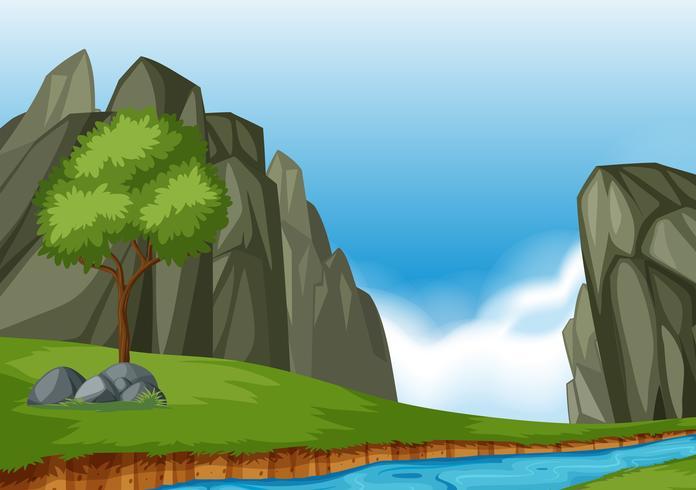 Un magnifique paysage de nature vecteur