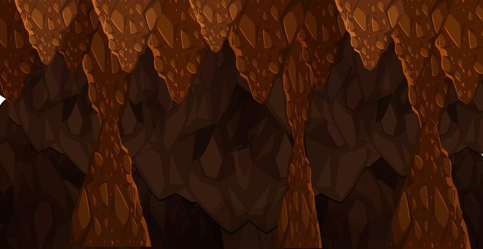 Modèle de cave sombre souterraine sans soudure vecteur