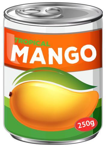 Une boîte de sirop de mangue vecteur