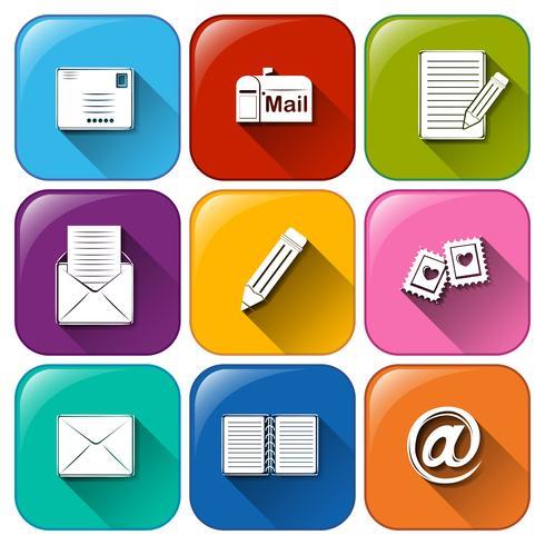 Icônes mail vecteur