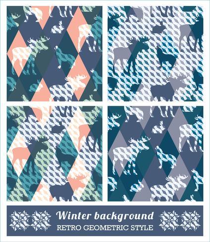 Motifs géométriques sans soudure d'hiver. vecteur
