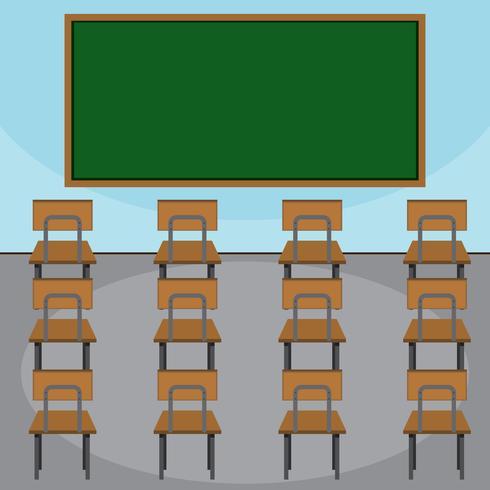 Scène d'une classe vecteur