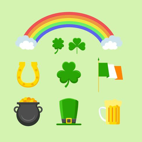 St Patricks Day clipart ensemble vecteur