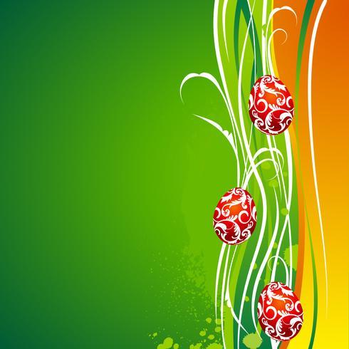 Vector illustration de Pâques avec des oeufs peints
