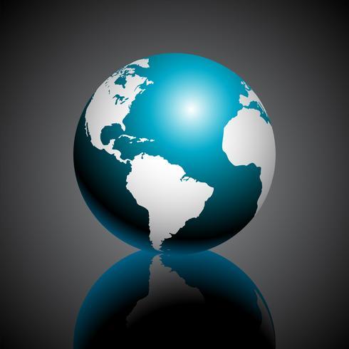 Illustration de carte du monde vectoriel