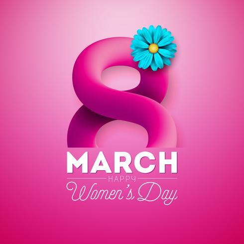 Carte de voeux pour la journée des femmes vecteur