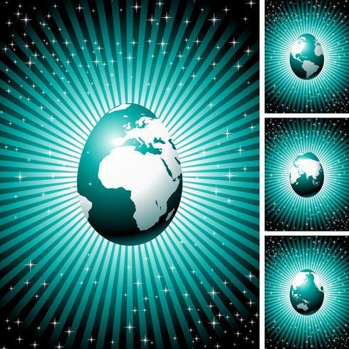 Illustration de Pâques Vector avec oeuf de globe