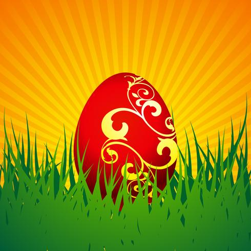 Vector illustration de Pâques avec oeuf peint