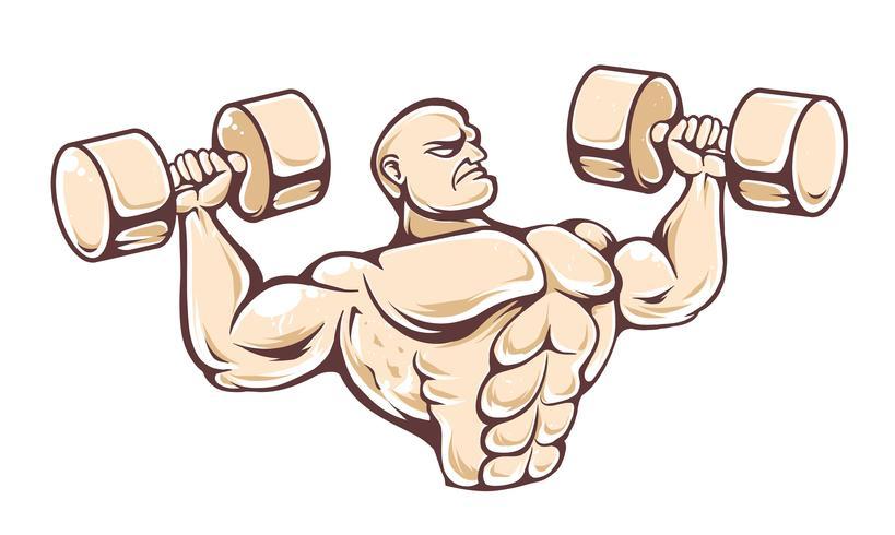 Vecteur de gym homme