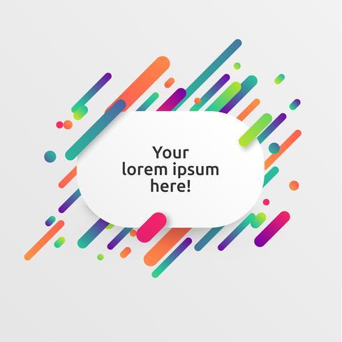 Modèle dynamique et coloré pour la publicité, illustration vectorielle vecteur