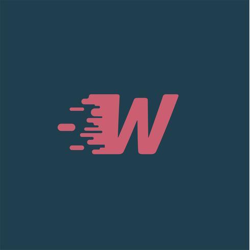 Caractère 'Rush' d'un typographe, illustration vectorielle vecteur