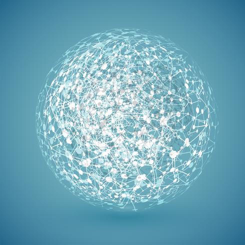 Globe blanc connecté, illustration vectorielle vecteur