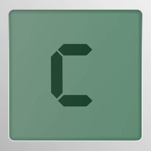 Caractère de jeu de caractères numériques sur un écran, illustration vectorielle vecteur