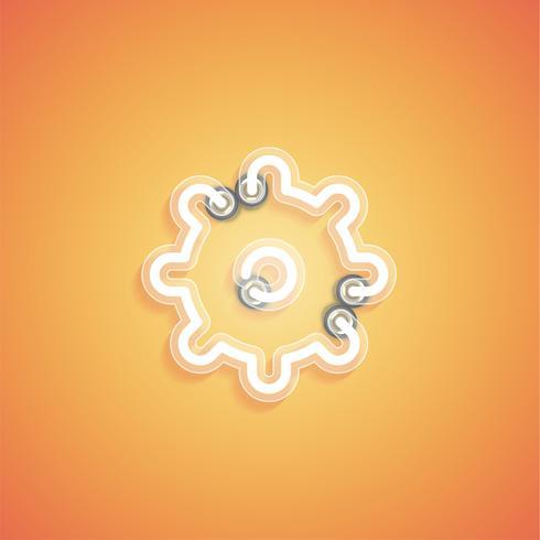 Icône néon réaliste rougeoyant pour le web, illustration vectorielle vecteur