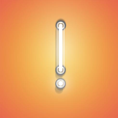 Néon réaliste d'un ensemble, illustration vectorielle vecteur