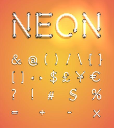 Ensemble néon réaliste, illustration vectorielle vecteur
